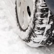 Car on snow road — Stock Photo