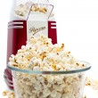 Popcorn maker and popcorn — Stock Photo