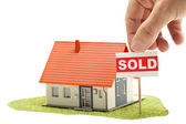 Sold house — Stock Photo