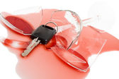 Don't drink and drive concept — Stock Photo
