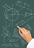 Math diagrams and formulas — Stock Photo