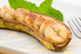 Baked banana — Stock Photo