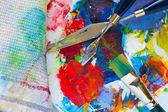 Herramientas de pintura — Foto de Stock