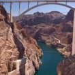 Stock Photo: Mike O'Callagh- Pat TillmMemorial Bridge from Hoover Dam