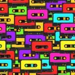 Seamless audio tape background — Stock Photo