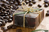 Coffee scented soap — Stock Photo