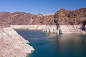Lake Mead at Hoover dam — Stock Photo