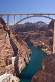 Mike O'Callaghan - Pat Tillman Memorial Bridge from Hoover Dam — Stock Photo