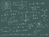 Diagramy fizyki i formuł — Zdjęcie stockowe