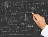 Physics diagrams and formulas — Stock Photo