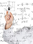Physics diagrams and formulas — Stock Photo