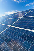 Solar photovoltaics panels — Stock Photo