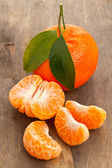 Mandarin slices — Stock Photo
