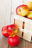 Apples in crate — Stock Photo