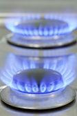 Gas stove burner — Stock Photo