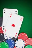 Pocket aces — Stock Photo