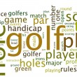 Golf tag cloud — Stock Photo