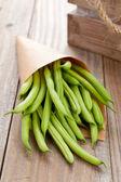 Organic pole beans — Stock Photo