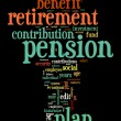 Stock Photo: Pension and retirement tag cloud