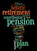 Pension and retirement tag cloud — Stock Photo