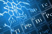 化学概念 — 图库照片