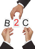 B2C Concept — Стоковое фото
