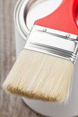 Paint brush and can — Stockfoto