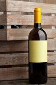 White wine bottle — Stock Photo