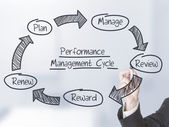 Performance management cycle — Stockfoto