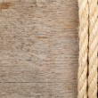 Rope and plank — Stock Photo