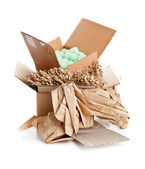 Recyclable packaging material — Stock Photo