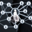 Social network connections — Stock Photo