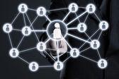 социальные сетевые подключения — Стоковое фото
