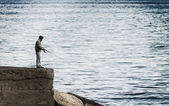 The fisherman — Stock Photo