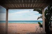 Plaża drzwi — Zdjęcie stockowe