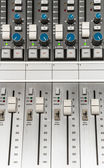 Fader on the audio console — Stock Photo