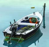 Boat mooring — Stock Photo