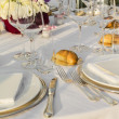 The Table is ready to receive guests — Stockfoto