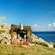 Nativity Scene on the Mediterranean Sea — Stock Photo