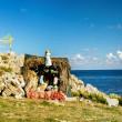 Nativity Scene on the Mediterranean Sea — Stock Photo