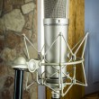 Mic in the recording studio — Stock Photo