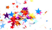 Colored stars confetti — Stock Photo