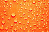 Background of water big and small drops — Stock Photo