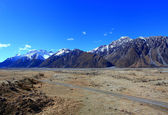 Tasman Valley on Blue Sky, Southland, New Zealand — Stock Photo
