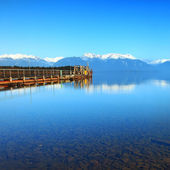 Old Jetty at Te Anau Lake, New Zealand — 图库照片