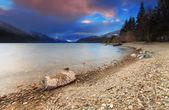 Jezioro wakatipu, queenstown, nowa zelandia — Zdjęcie stockowe
