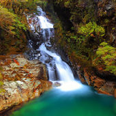 Falls creek on Autumn, Southland, New Zealand — Stock Photo