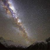 Milchstraße über Mount Cook, Neuseeland — Stockfoto
