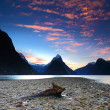 Scenic view at Milford Sound, South Island, New Zealand — Stock Photo
