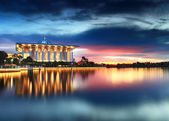 Dramatic sunset view at Masjid Besi, Putrajaya, Malaysia — Stock Photo